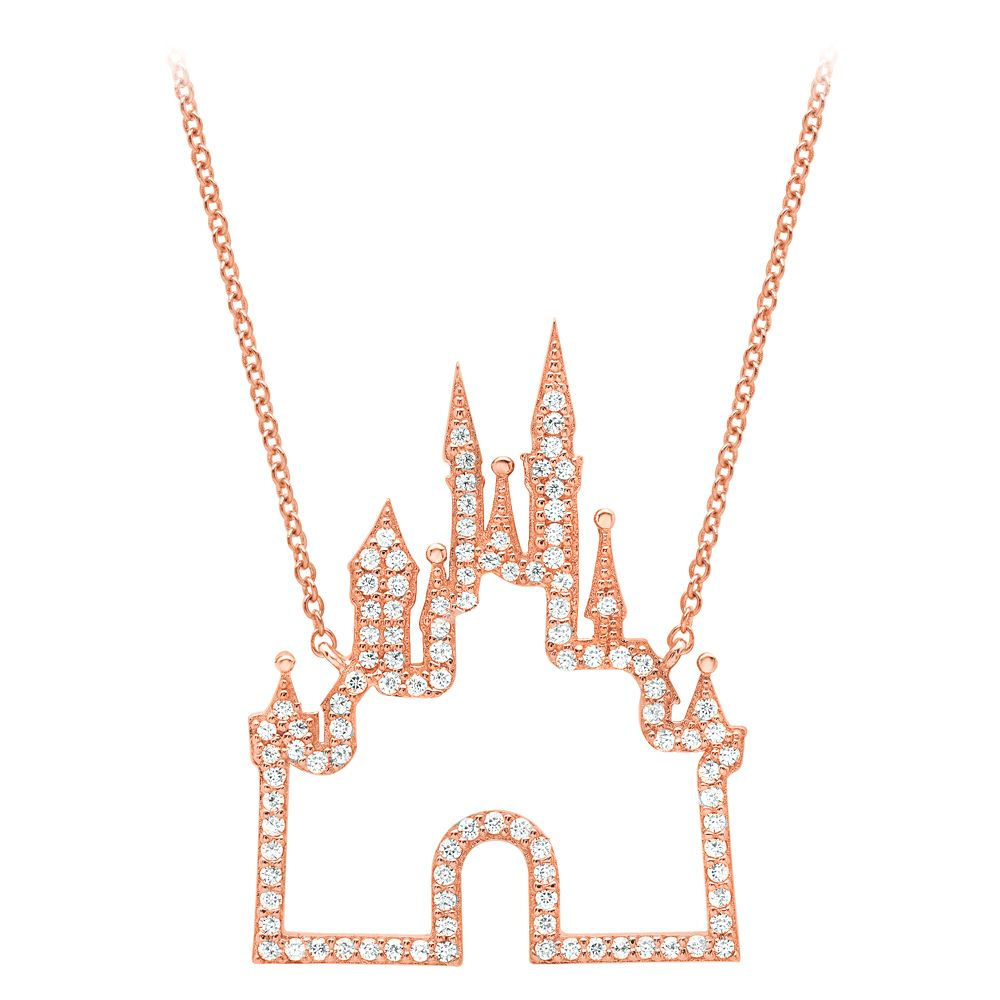 Fantasyland Castle Necklace by CRISLU – Rose Gold