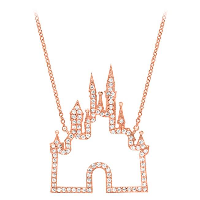 Fantasyland Castle Necklace by CRISLU – Rose Gold