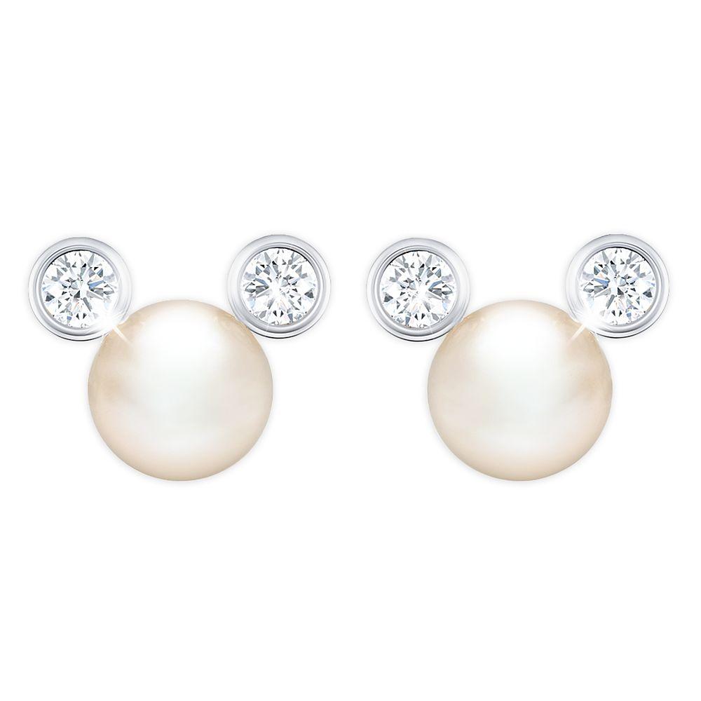 Mickey Mouse Pearl Earrings by CRISLU