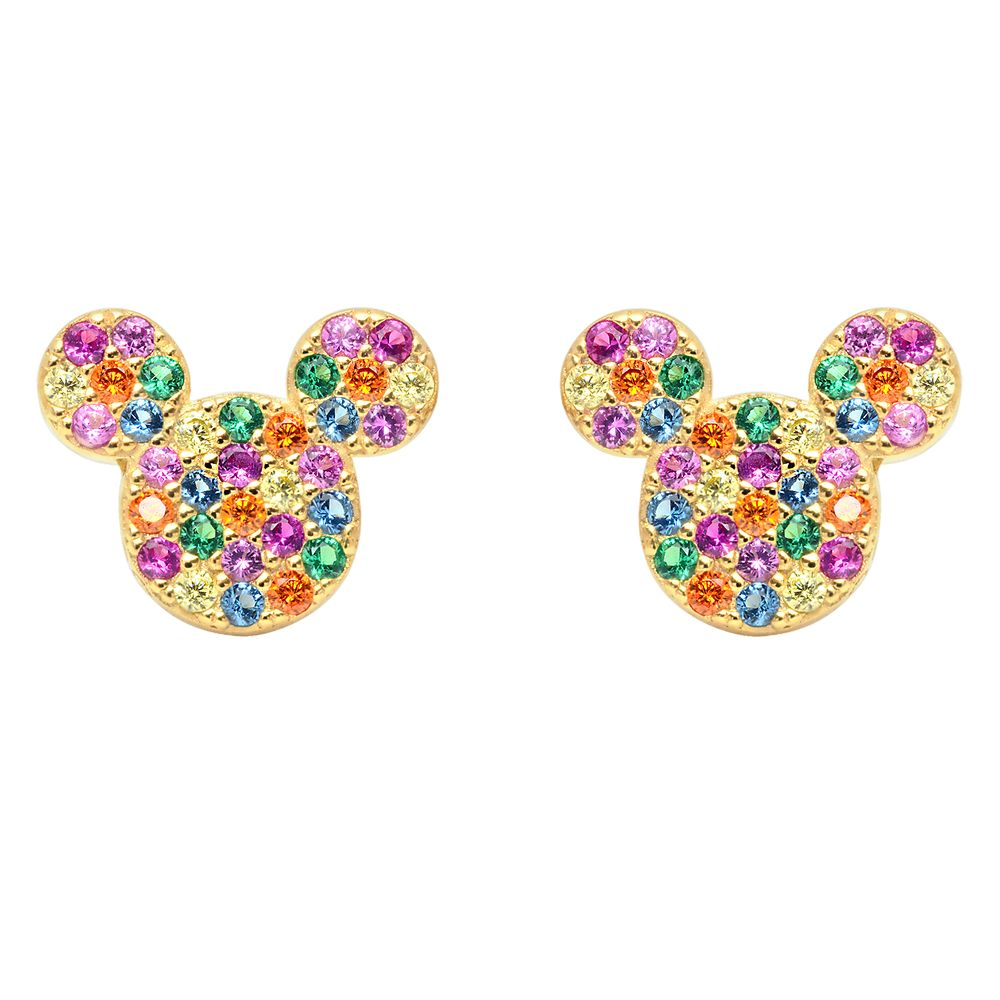 Mickey Mouse Rainbow Icon Earrings by CRISLU