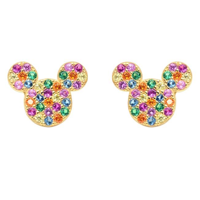 Mickey Mouse Rainbow Icon Earrings by CRISLU