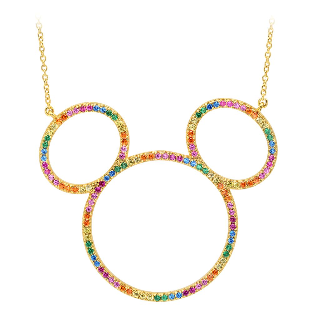 Mickey Mouse Rainbow Icon Outline Necklace by CRISLU Official shopDisney