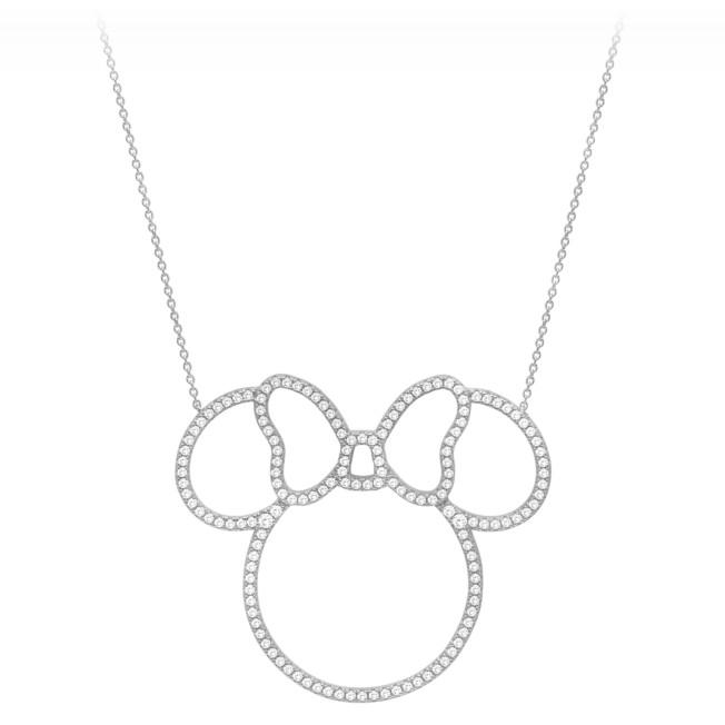 Minnie Mouse Pavé Icon Outline Necklace by CRISLU