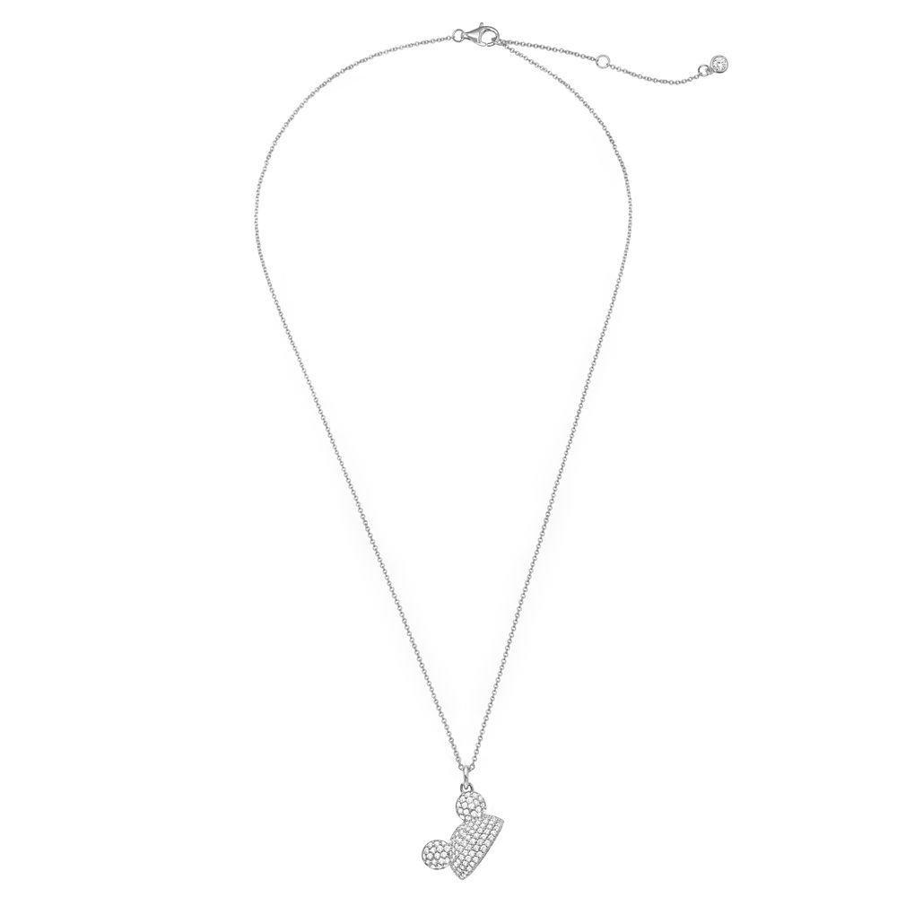 Mickey Mouse Pavé Ear Hat Necklace by CRISLU