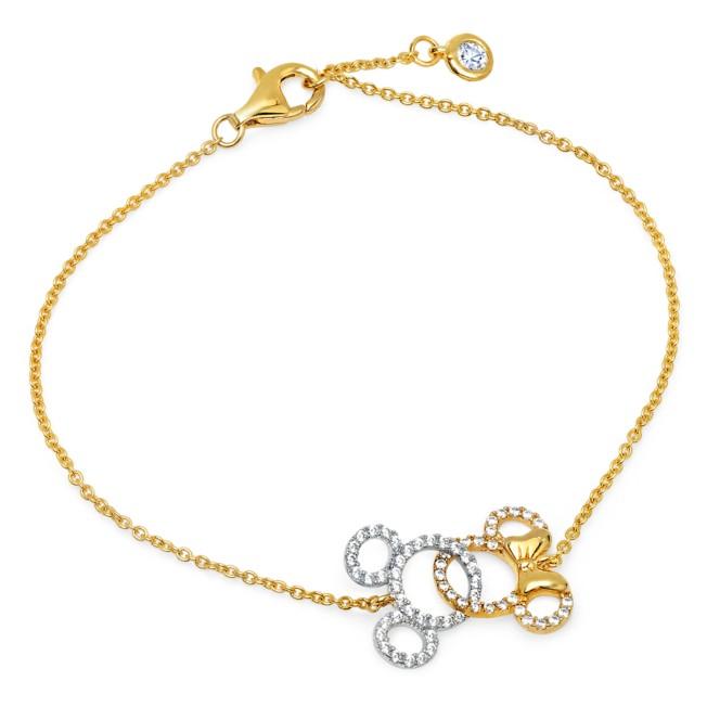 Mickey and Minnie Mouse Interlocking Icons Bracelet by CRISLU