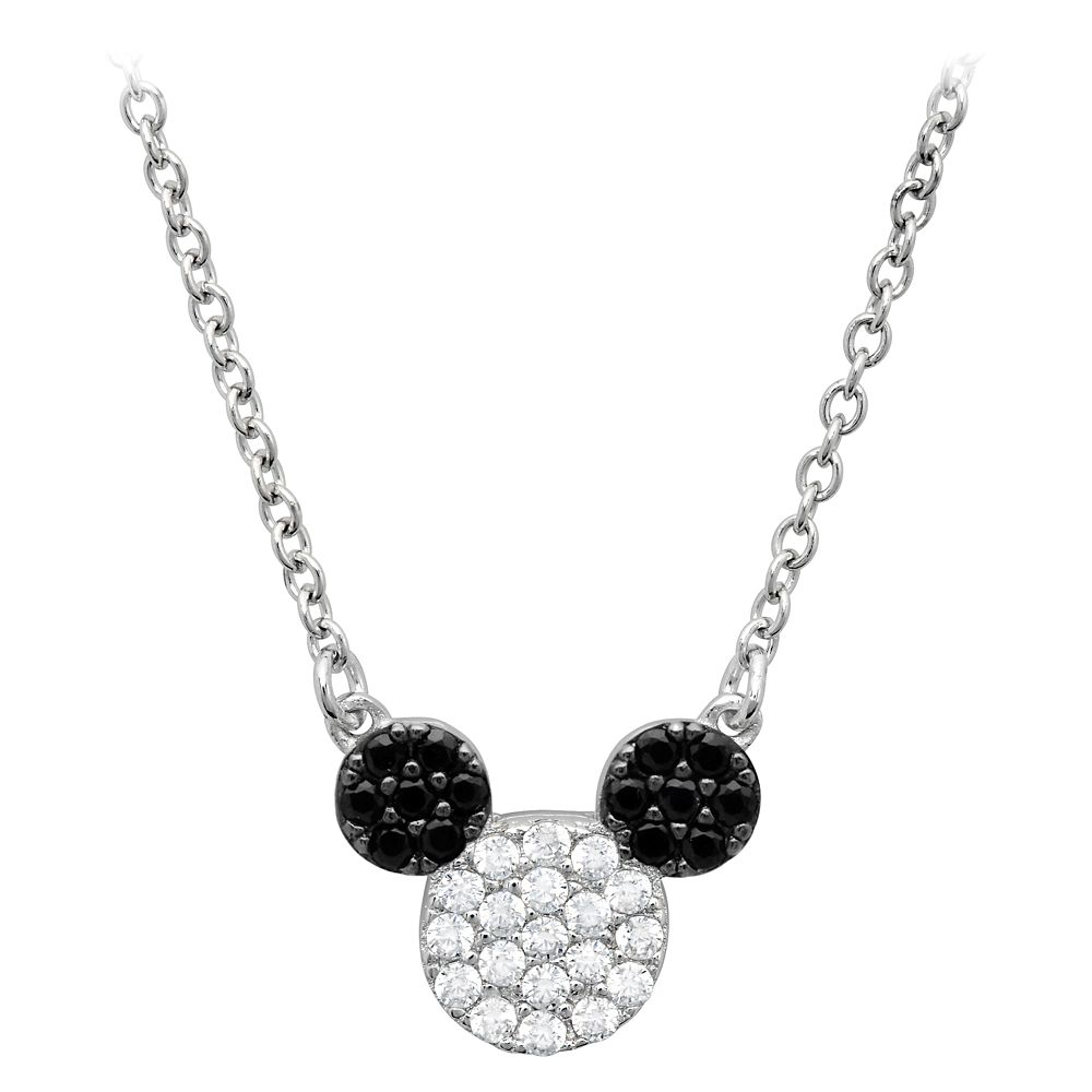 Mickey Mouse Pavé Icon Necklace by CRISLU – Platinum