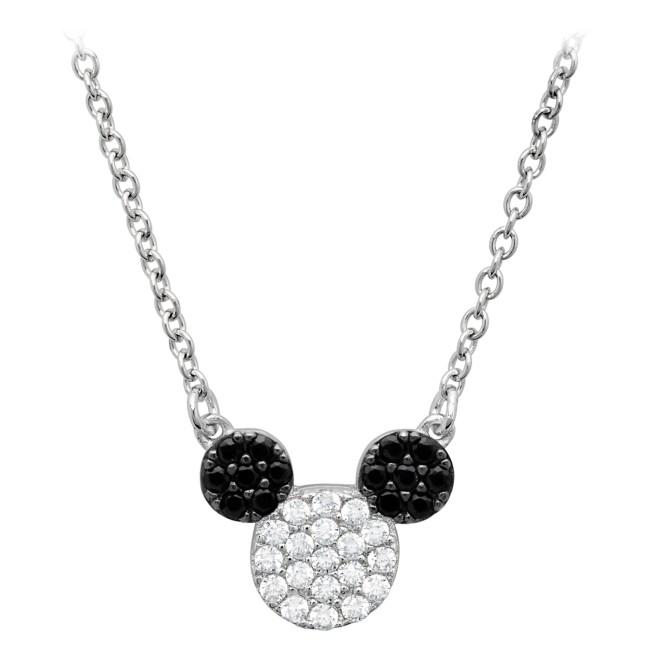 Mickey Mouse Pavé Icon Necklace by CRISLU – Platinum