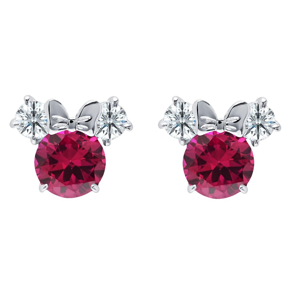 Minnie Mouse Birthstone Earrings by CRISLU  Platinum Official shopDisney
