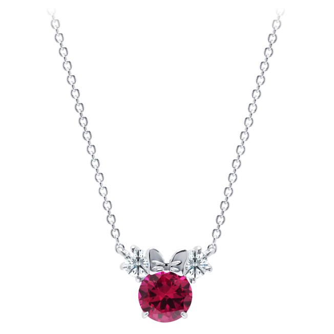 Minnie Mouse Birthstone Necklace by CRISLU – Platinum