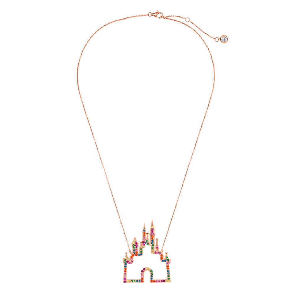 Rainbow Disney Collection Fantasyland Castle Necklace by CRISLU