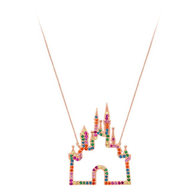 Rainbow Disney Collection Fantasyland Castle Necklace by CRISLU