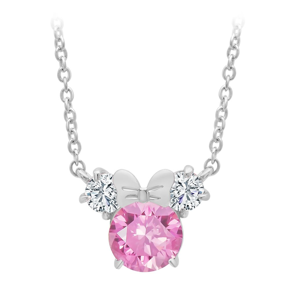 Minnie Mouse Necklace for Kids by CRISLU – Pink