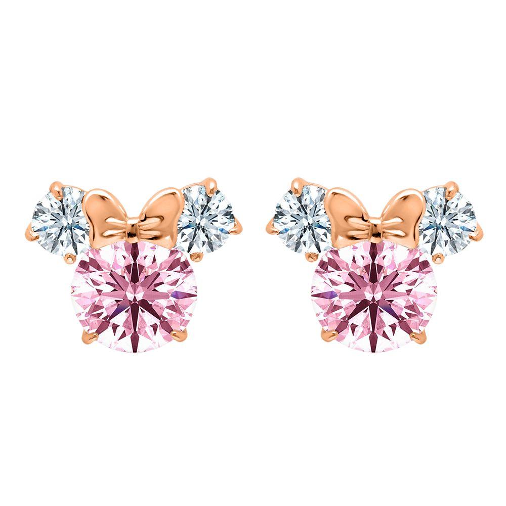Minnie Mouse Earrings for Kids by CRISLU – Pink