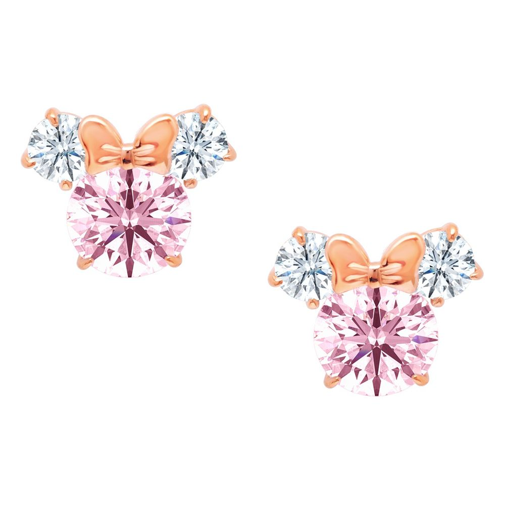 Minnie Mouse Earrings for Kids by CRISLU – Pink