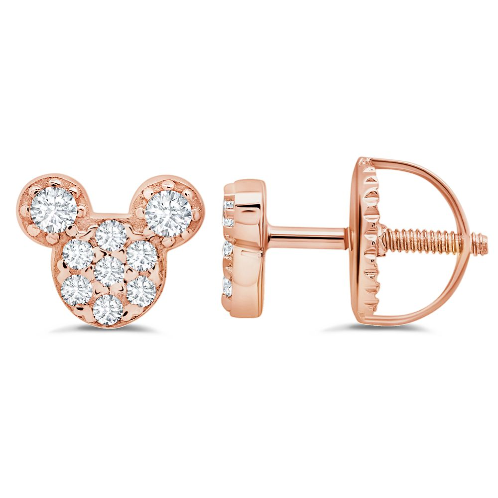 Mickey Mouse Icon Stud Earrings for Kids by CRISLU