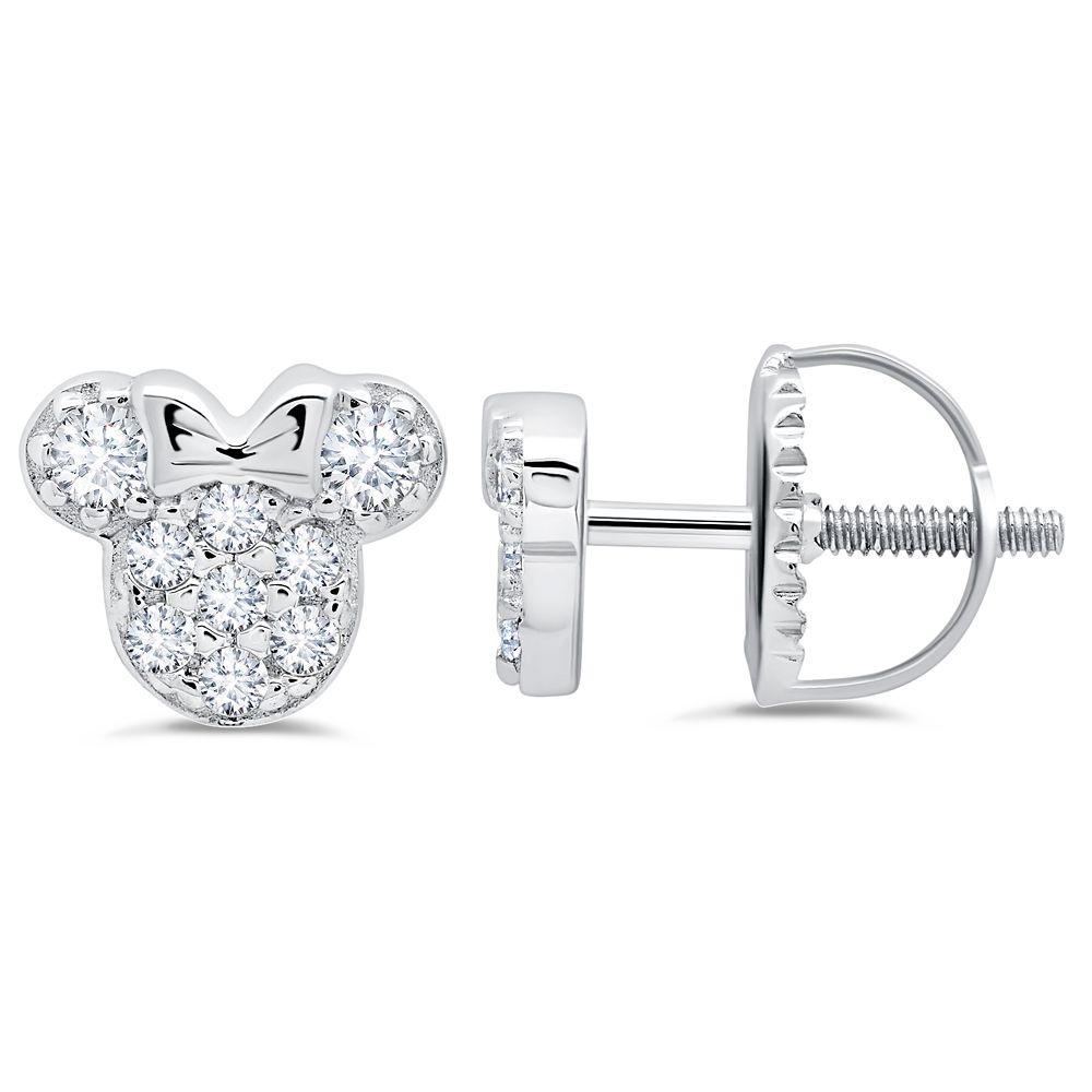 Minnie Mouse Icon Stud Earrings for Kids by CRISLU   shopDisney