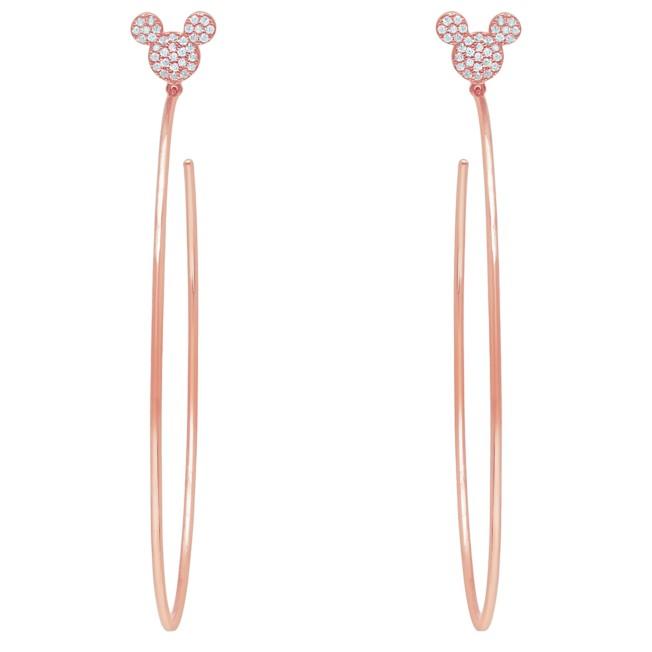 Mickey Mouse Large Hoop Earrings by CRISLU