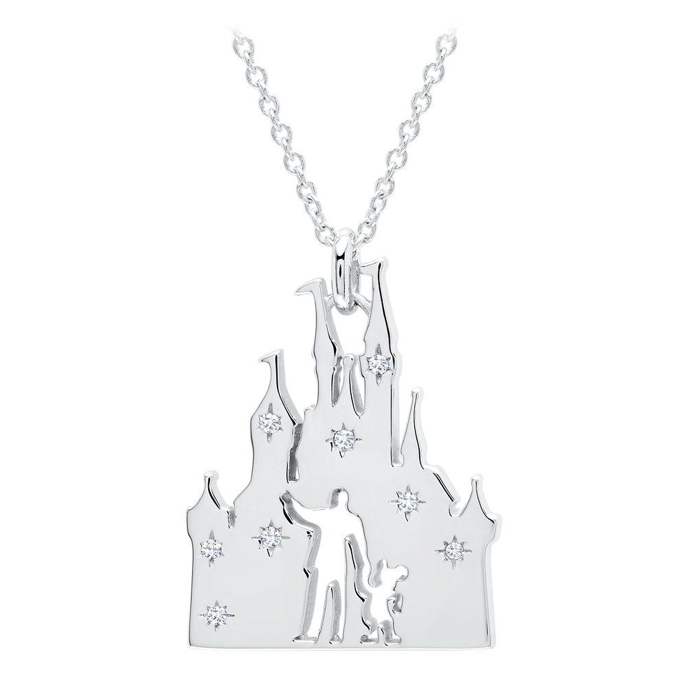 Walt Disney and Mickey Fantasyland Castle Necklace by CRISLU