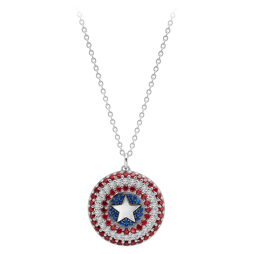 Captain America Shield Pendant Necklace by CRISLU