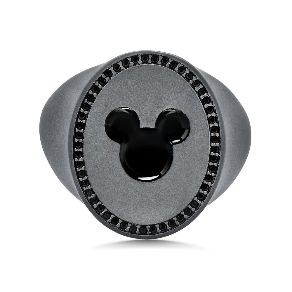 Mickey Mouse Icon Signet Ring for Men by CRISLU