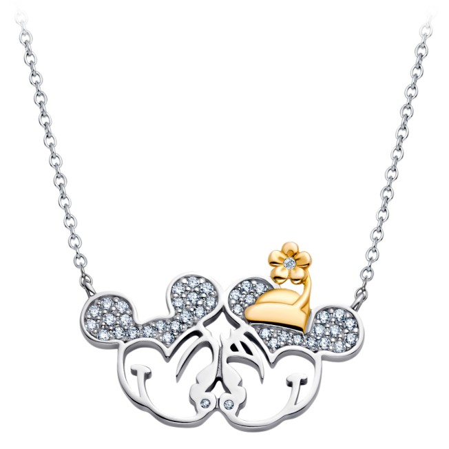 Mickey and Minnie Mouse Stationary Pendant Necklace by CRISLU