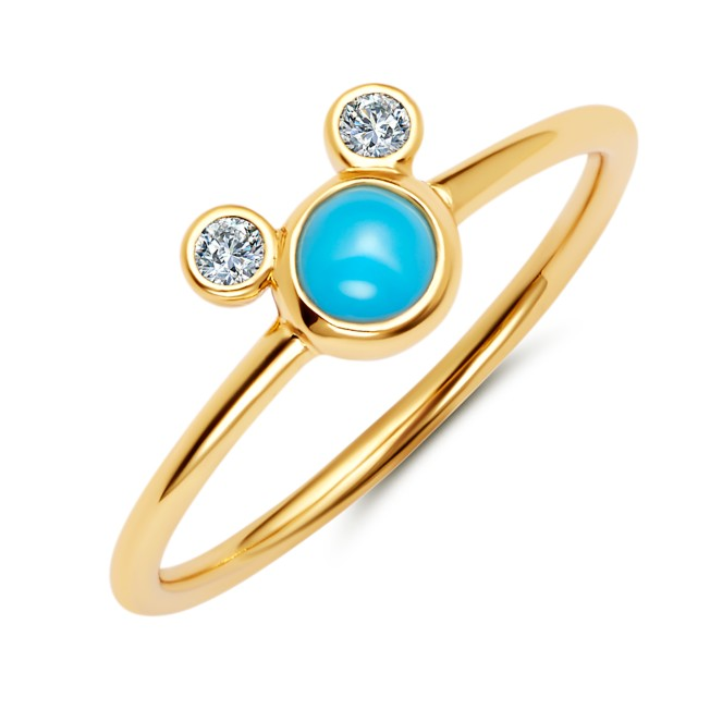 Mickey Mouse Icon Turquoise Ring by CRISLU