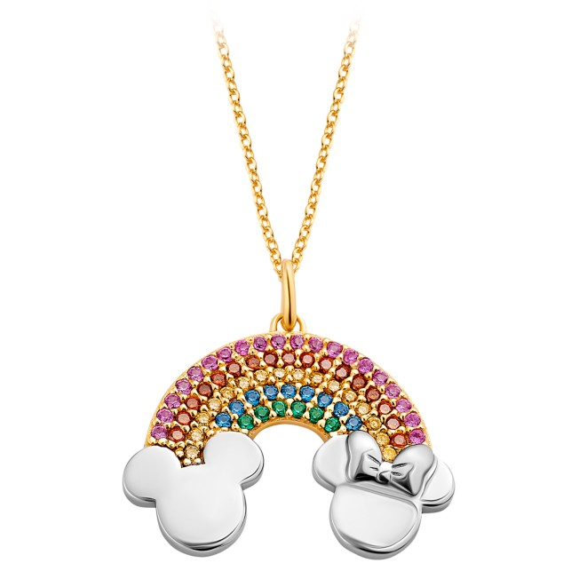Mickey and Minnie Mouse Rainbow Pendant Necklace by CRISLU