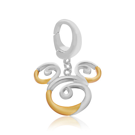 Mickey Mouse Swirl Charm - Disney Designer Jewelry Collection