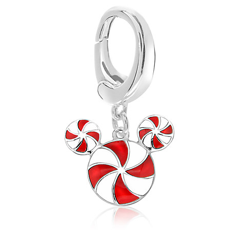 Mickey Mouse Candy Cane Charm - Disney Designer Jewelry Collection