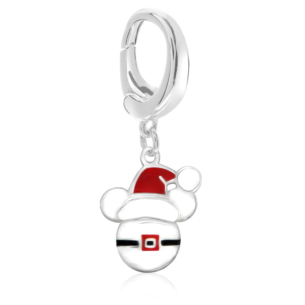 Mickey Mouse Santa Hat Charm  Disney Designer Jewelry Collection