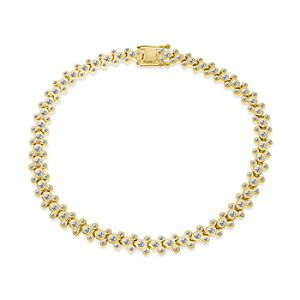 Mickey Mouse Yellow Gold Plated Bracelet – Disney Designer Jewelry Collection