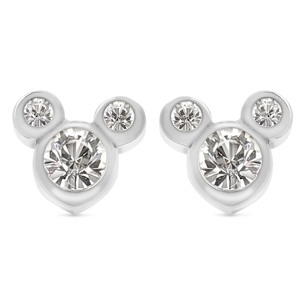 Mickey Mouse Crystal Icon Earrings – Small