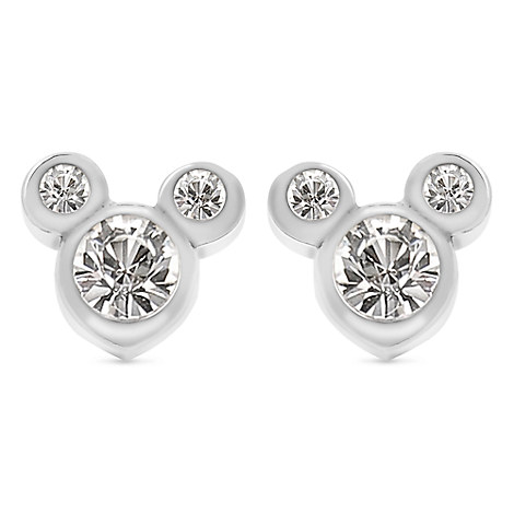Mickey Mouse Crystal Icon Earrings - Small