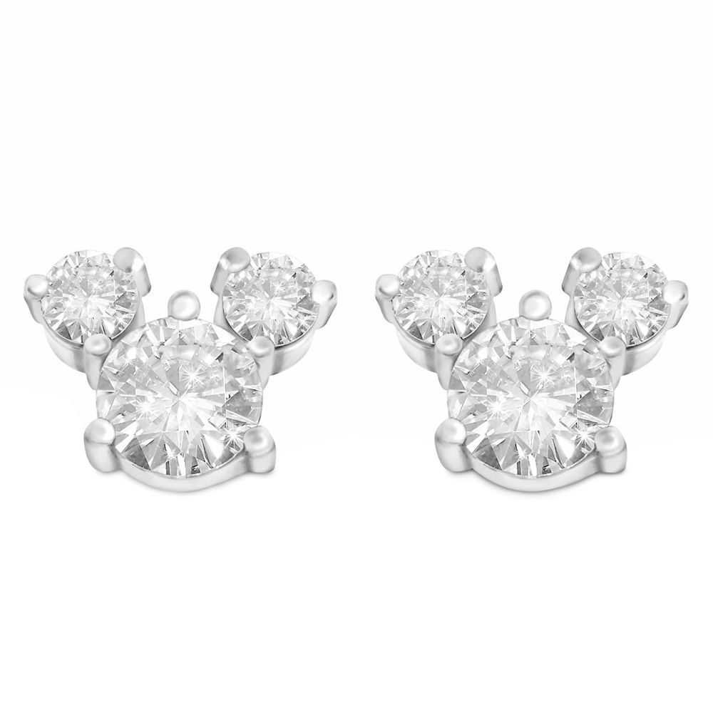 Mickey Mouse Crystal Icon Earrings – Large