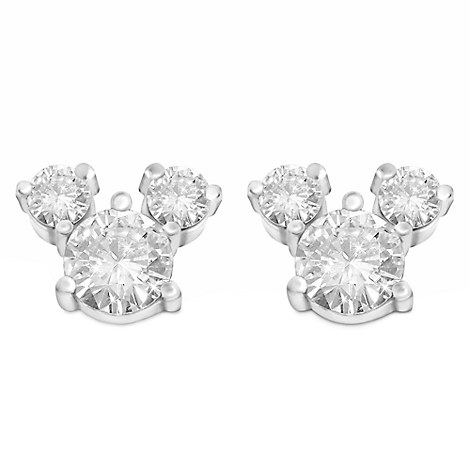 Mickey Mouse Crystal Icon Earrings - Large