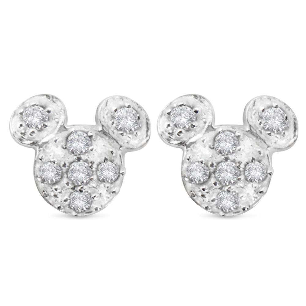 Mickey Mouse Pavè Icon Earrings