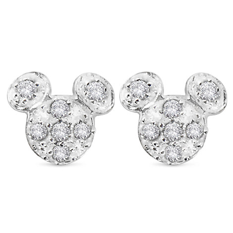 Mickey Mouse Pave Icon Earrings