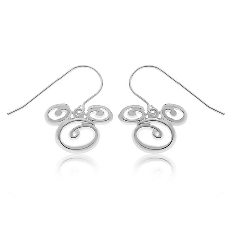 Mickey Mouse Swirl Earrings - Disney Designer Jewelry Collection