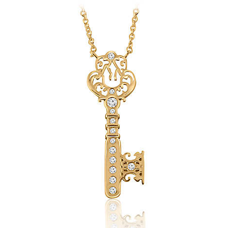 Castle Key Necklace - Disney Designer Jewelry Collection - Gold