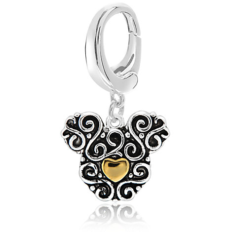 Mickey Mouse Icon Filigree Charm - Disney Designer Jewelry Collection
