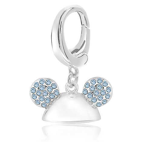 Mickey Mouse Crystal Ear Hat Charm - Disney Designer Jewelry Collection