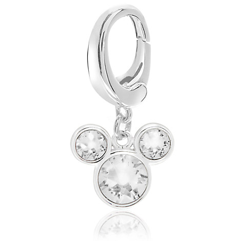 Mickey Mouse Crystal Icon Charm - Disney Designer Jewelry Collection