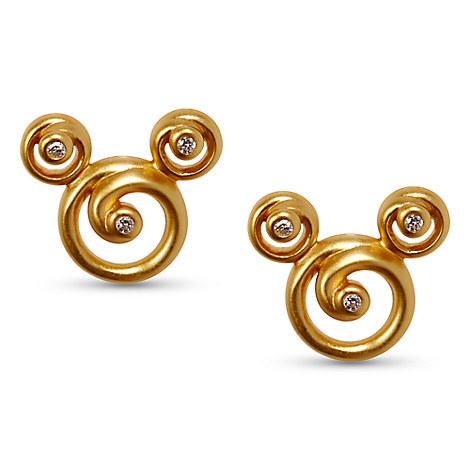 Mickey Mouse Swirl Earrings by Rebecca Hook