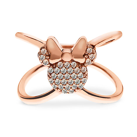 Minnie Mouse ''X'' Ring by Rebecca Hook - Rose Gold by Rebecca Hook