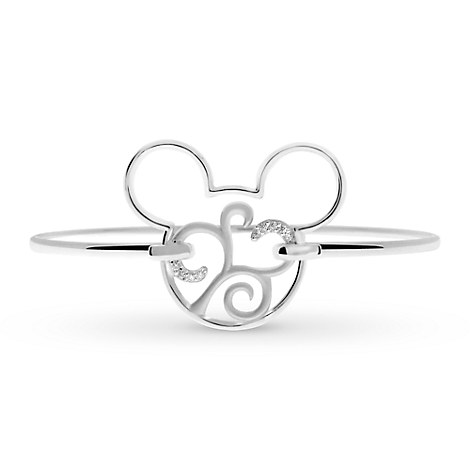 Mickey Mouse Scroll Icon Bracelet by Rebecca Hook