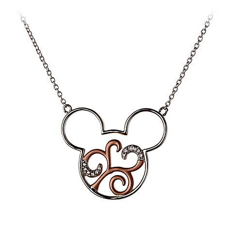 Mickey Mouse Scroll Icon Necklace by Rebecca Hook