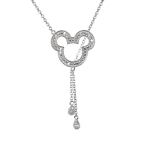 Mickey Mouse Jeweled Icon Necklace by Rebecca Hook