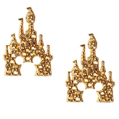 Mickey Mouse Castle Earrings by Rebecca Hook - Gold