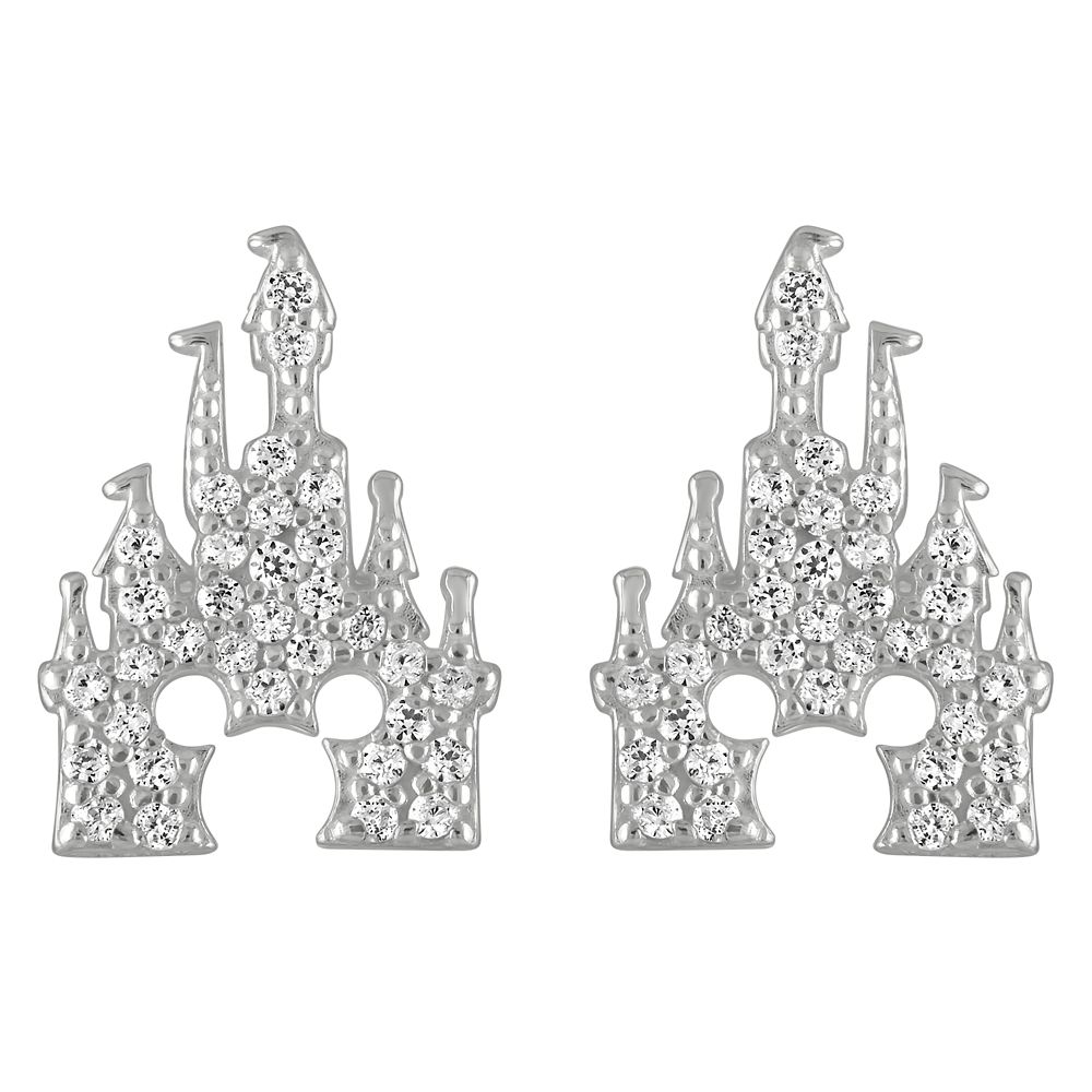 Mickey Mouse Fantasyland Castle Earrings by Rebecca Hook – Silver