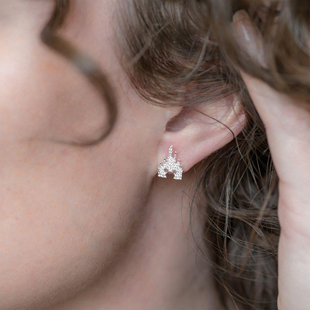 Mickey Mouse Fantasyland Castle Earrings by Rebecca Hook – Silver